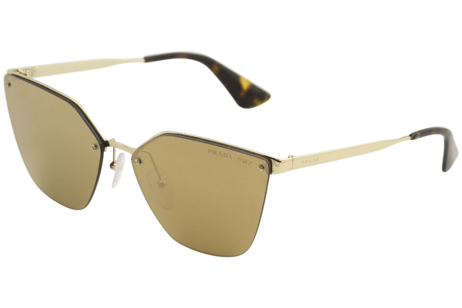 c90c0d3609 Prada SPR68T SPR 68 T ZVN 5N2 Pale Gold Cat Eye Polarized Sunglasses ...