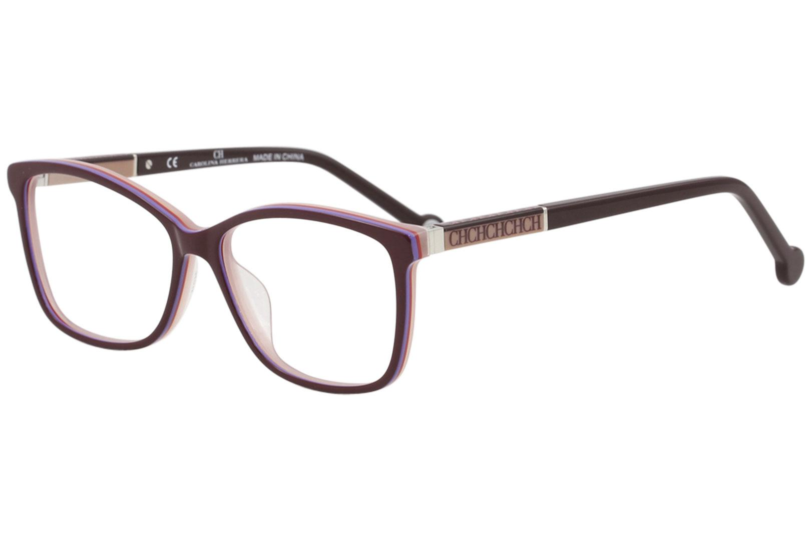 CH Carolina Herrera Eyeglasses VHE672K 672K 0M56 Burgundy Optical Frame 54mm