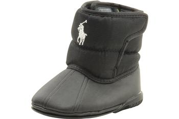 Polo Ralph Lauren Boots Vancouver EZ Crest Infant Boy's Black Shoes UPC: