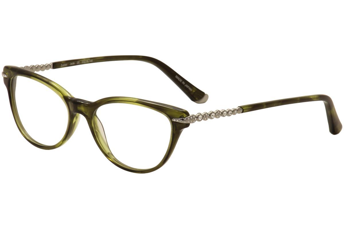 Image of Judith Leiber Couture Women's Zodiac Eyeglasses Full Rim Optical Frame - Green - Lens 53 Bridge 16 Temple 140mm
