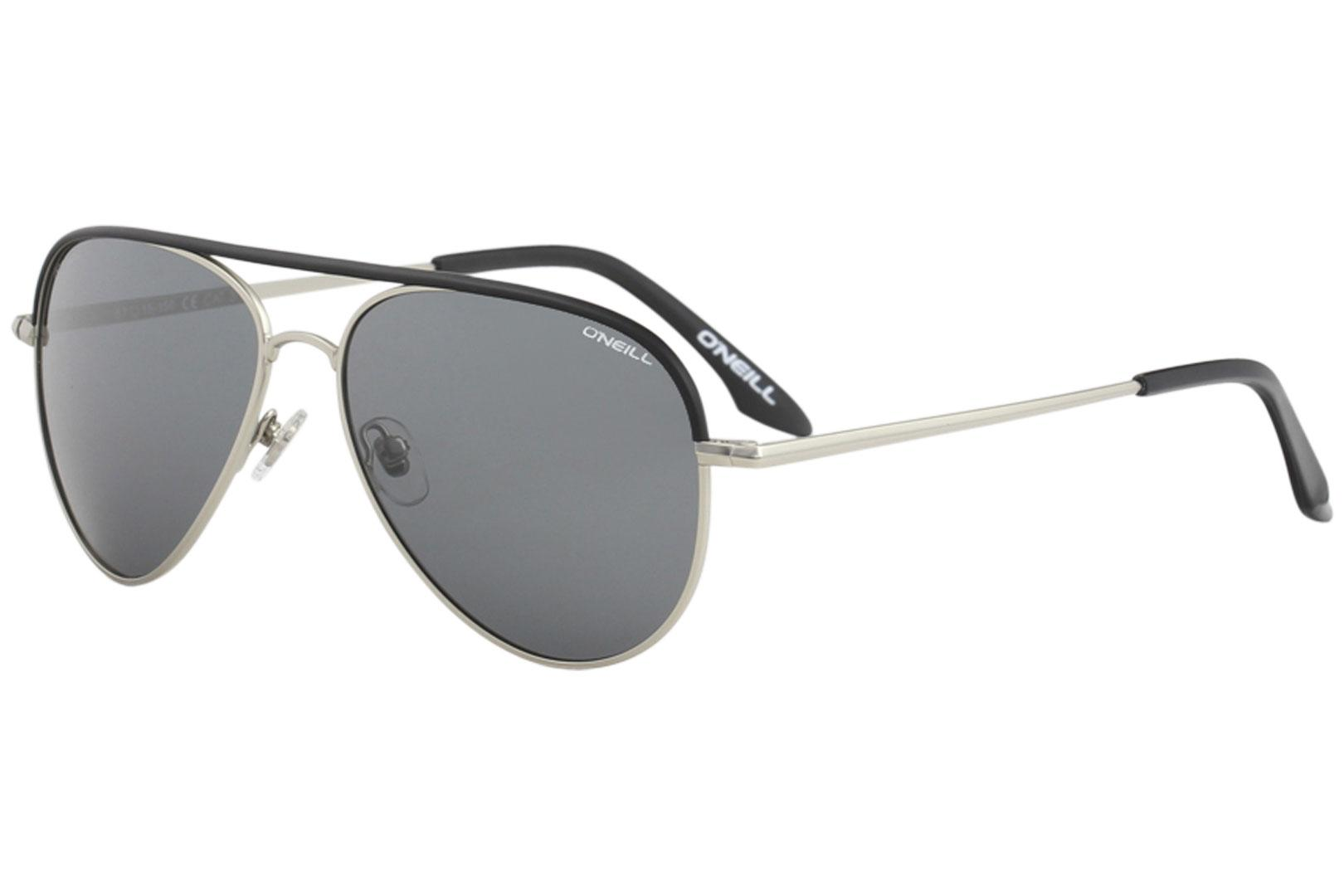 Image of O'Neill Men's Ons Filey Fashion Pilot Sunglasses - Black Silver/Grey Polarized   002 P - Lens 57 Bridge 15 Temple 150mm