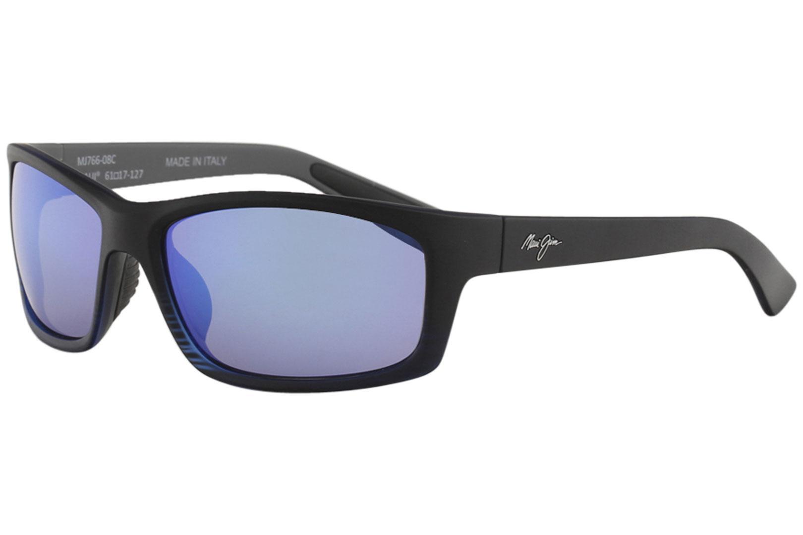 21628da4b6 Maui Jim Men s Kanaio-Coast MJ766 MJ 766 Fashion Rectangle Polarized  Sunglasses
