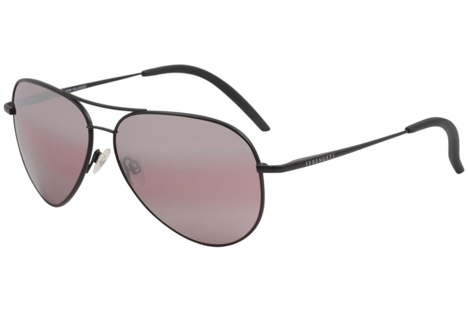 Image of Serengeti Carrara Fashion Medium Fashion Pilot Sunglasses - Black - Lens 59 Bridge 13 Temple 135mm