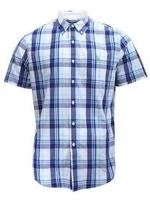 U.S. Polo Association Men's Short Sleeve Collar Stays Plaid Button Down Shirt UPC: