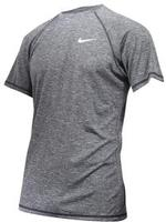 Nike Men's Heather Short Sleeve Hydroguard Shirt Swimwear UPC: