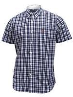 U.S. Polo Association Men's Short Sleeve Plaid/Check Button Down Shirt UPC: