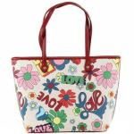 Love Moschino Women's Love Print Large Tote Handbag UPC: