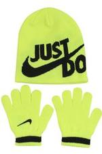 Nike Boy's Just Do It 2-Piece Beanie Hat & Gloves Set UPC: