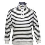 Nautica Men's Striped Long Sleeve Funnel Neck Pullover Sweatshirt UPC: