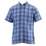 Nautica Men's Short Sleeve Heirloom Plaid Button Down Shirt UPC:
