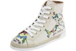 Love Moschino Women's Fashion Embroidered Canvas High Top Sneakers Shoes UPC: