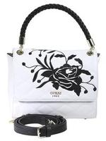 Guess Women's Heather Embroidered Flap Satchel Handbag UPC: