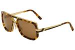 Cazal Legends Men's 662/3 001SG Black/Gold Sunglasses 60mm UPC: