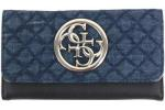 Guess Women's G Lux Slim Clutch Tri-Fold Wallet UPC: