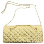 Love Moschino Women's Quilted Chain Crossbody Envelope Clutch Handbag UPC: