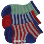 Stride Rite Infant/Toddler Boy's 3-Pack Basic Striped Skid-Proof Socks UPC: