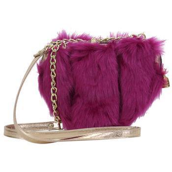 Betsey Johnson Women's Fur Your Eyes Only Heart Crossbody Handbag