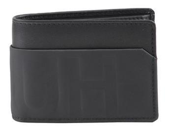 Hugo Boss Men's Hero Reverse Logo Genuine Leather Coin Pouch Wallet