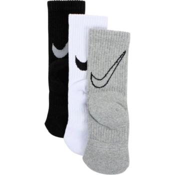 Nike Boy's 3-Pair Graphic Swoosh Logo Sport Crew Socks
