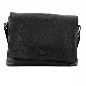Hugo Boss Men's Mackus Embossed Leather Business Messenger Bag