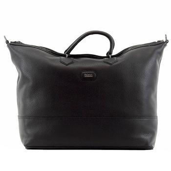 Hugo Boss Men's Manfredy Leather Weekender Duffle Bag