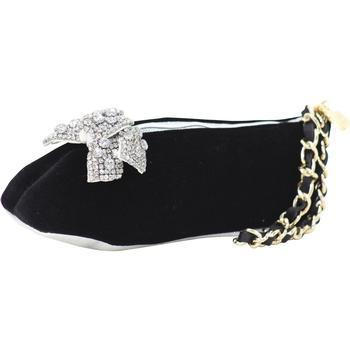 Betsey Johnson Women's Tippee Toe Velvet Ballet Slipper Wristlet Handbag