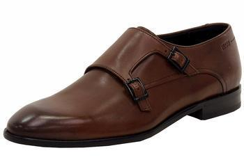 Hugo Boss Men's Dressapp Double Buckle Monk Strap Dressy Leather Loafers Shoes