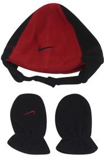 Nike Infant Boy's Swoosh Logo 2-Piece Beanie Hat & Mittens Set