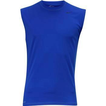 Nike Men's Solid Sleeveless Dri-Fit Rash Guard Shirt