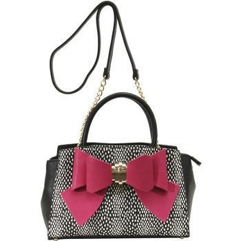 Betsey Johnson Women's Bow You See It Dotty Removable Bow Satchel Handbag