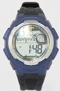Timex Men's T5K5939J Black/Blue Analog Chronograph Sport Watch  UPC:753048401147