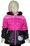 Hello Kitty Girl's HK032 Puffer Hooded Winter Jacket  UPC: